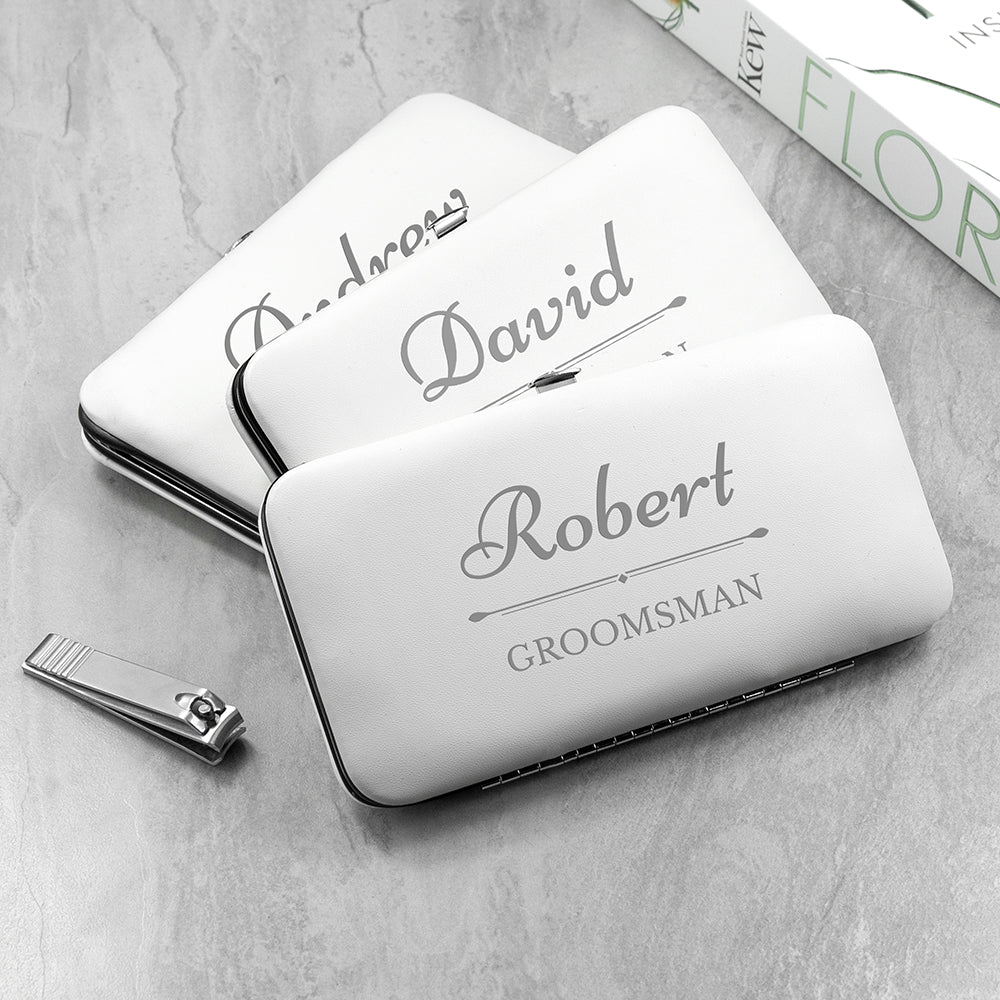Personalised Wedding Party Grooming Kit - White