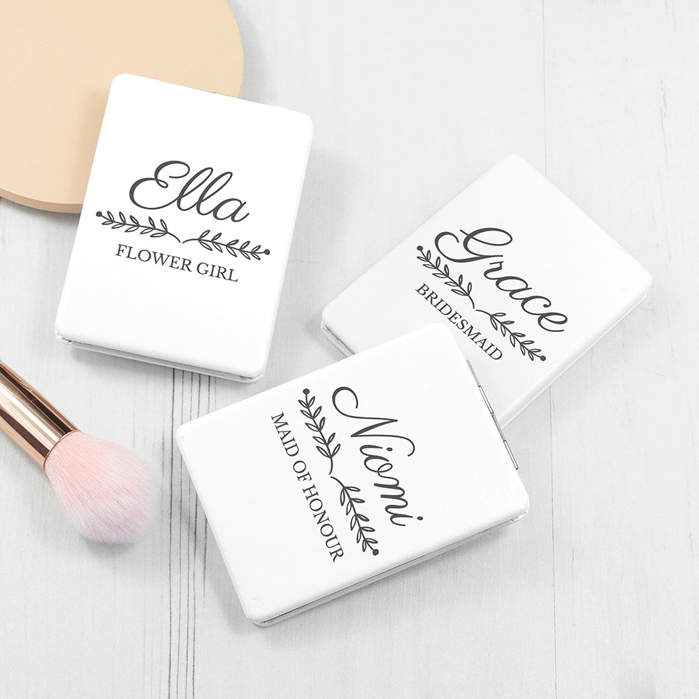 Personalised Bridal Party Compact Mirror