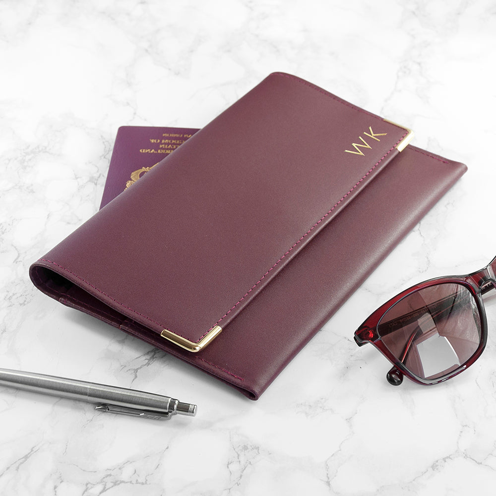 Personalised Luxury Leather Travel Organiser