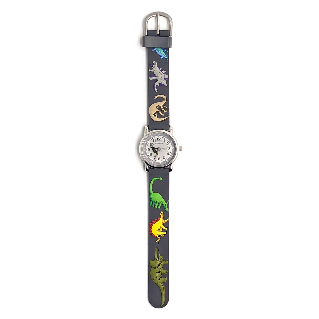 Kids Personalised Grey Dinosaur Watch