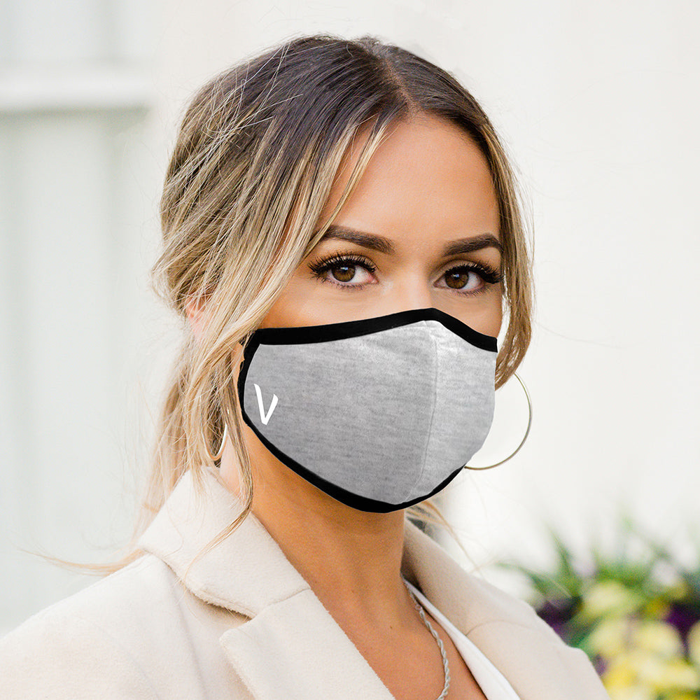 Personalised Fitted Adult Face Masks - Grey