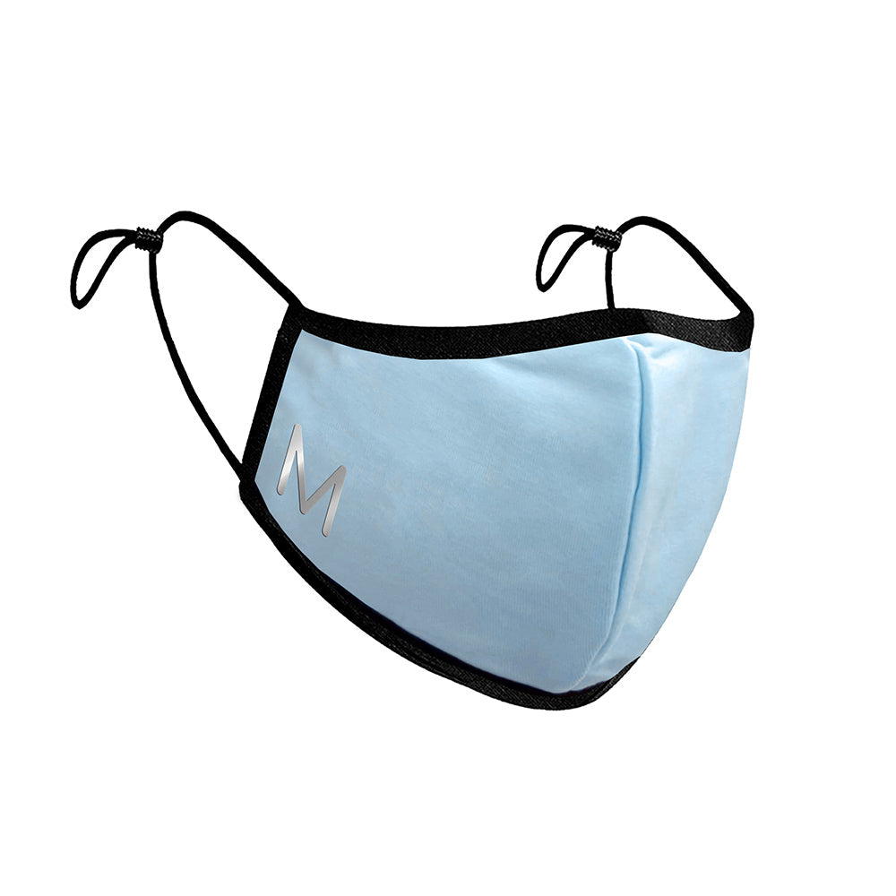 Personalised Fitted Adult Face Masks - Cornflower Blue
