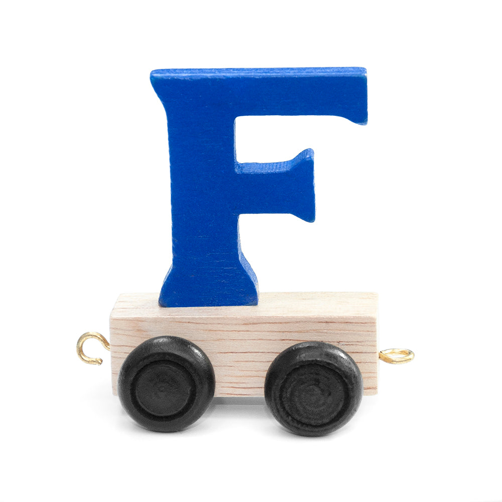 Personalised Children's Wooden Name Train - Red and Blue