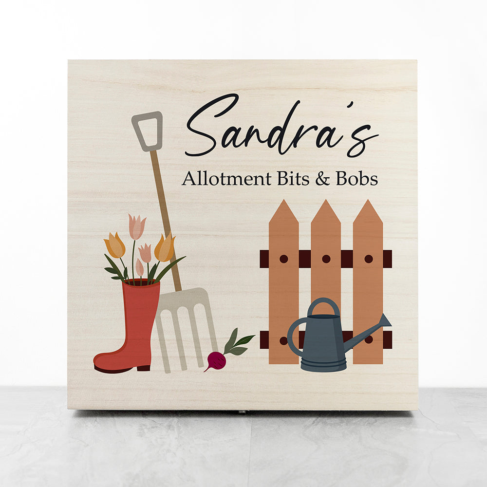 Personalised Allotment Gardener's Accessories Box