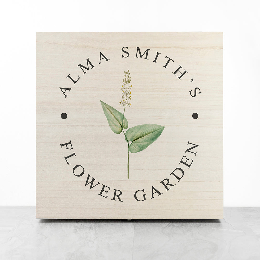 Personalised Flower Gardener's Accessories Box