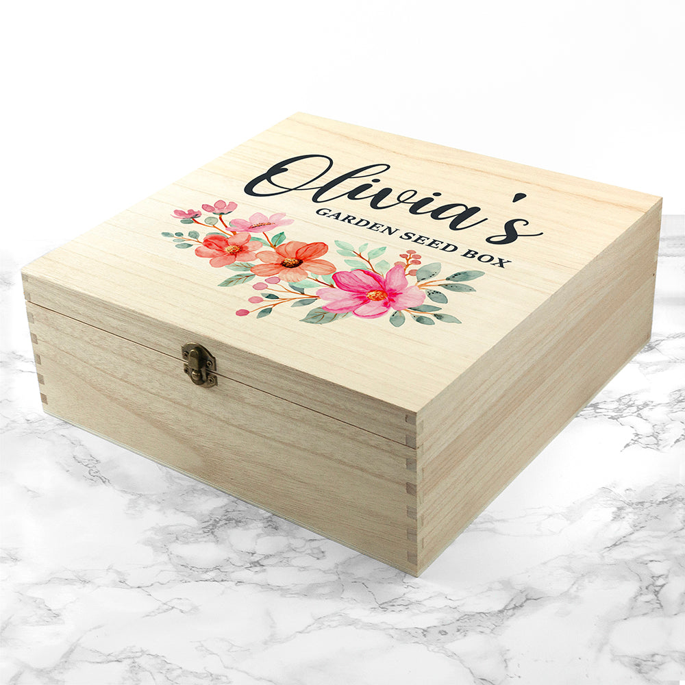 Personalised Flower Garland Gardener's Accessories Box
