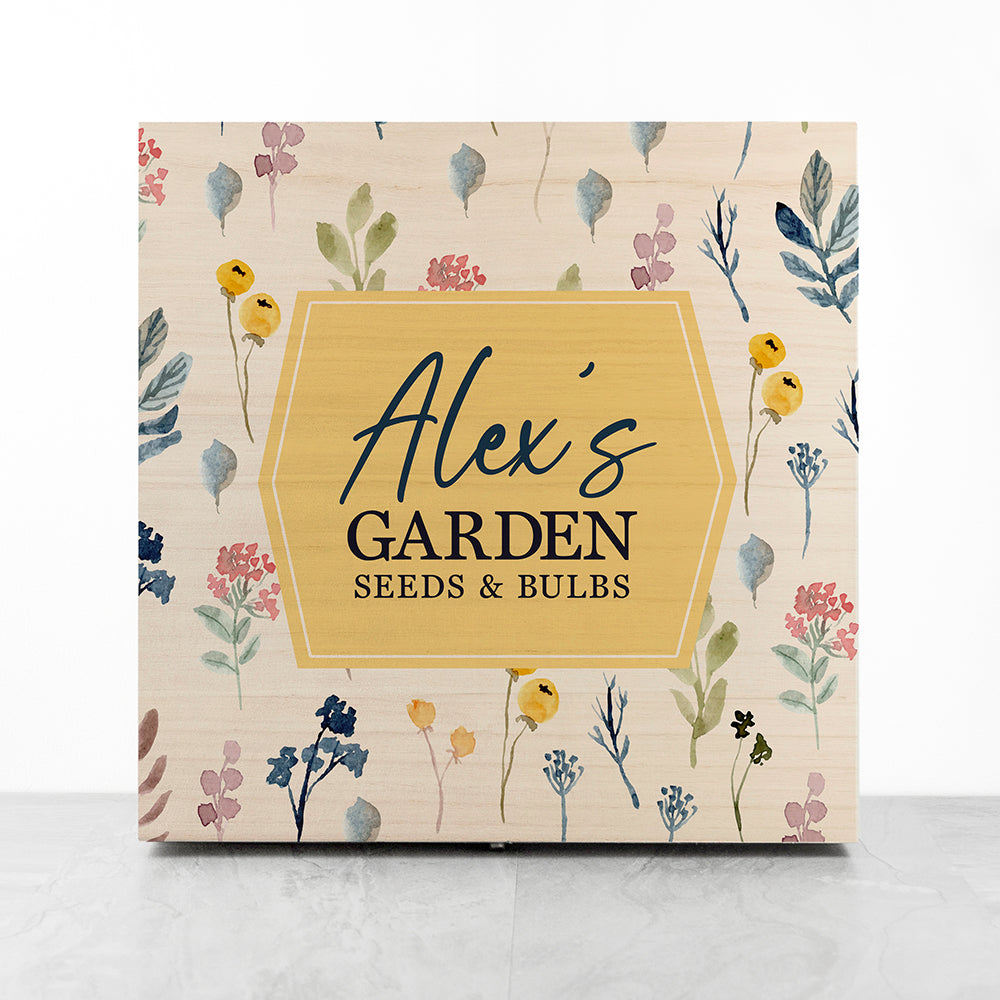 Personalised Botanical Gardener's Accessories Box