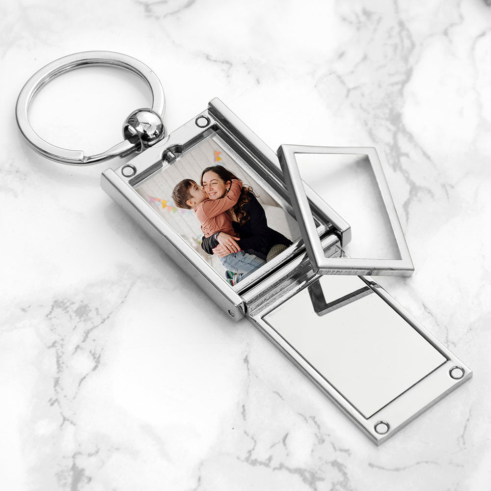 Personalised Home With Mummy Frame Keyring