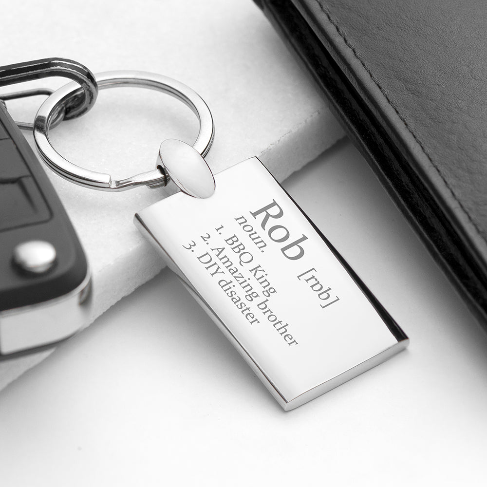 Personalised Definition Keyring