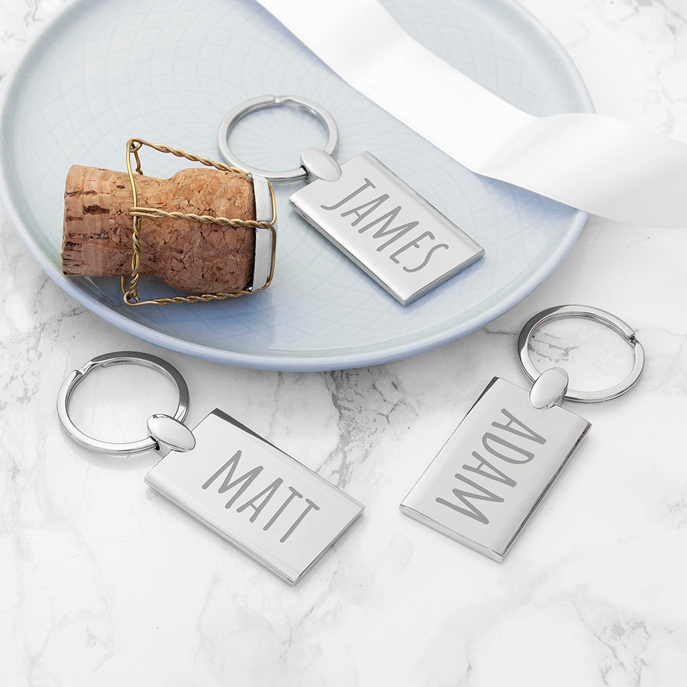 Personalised Rectangle Keyring