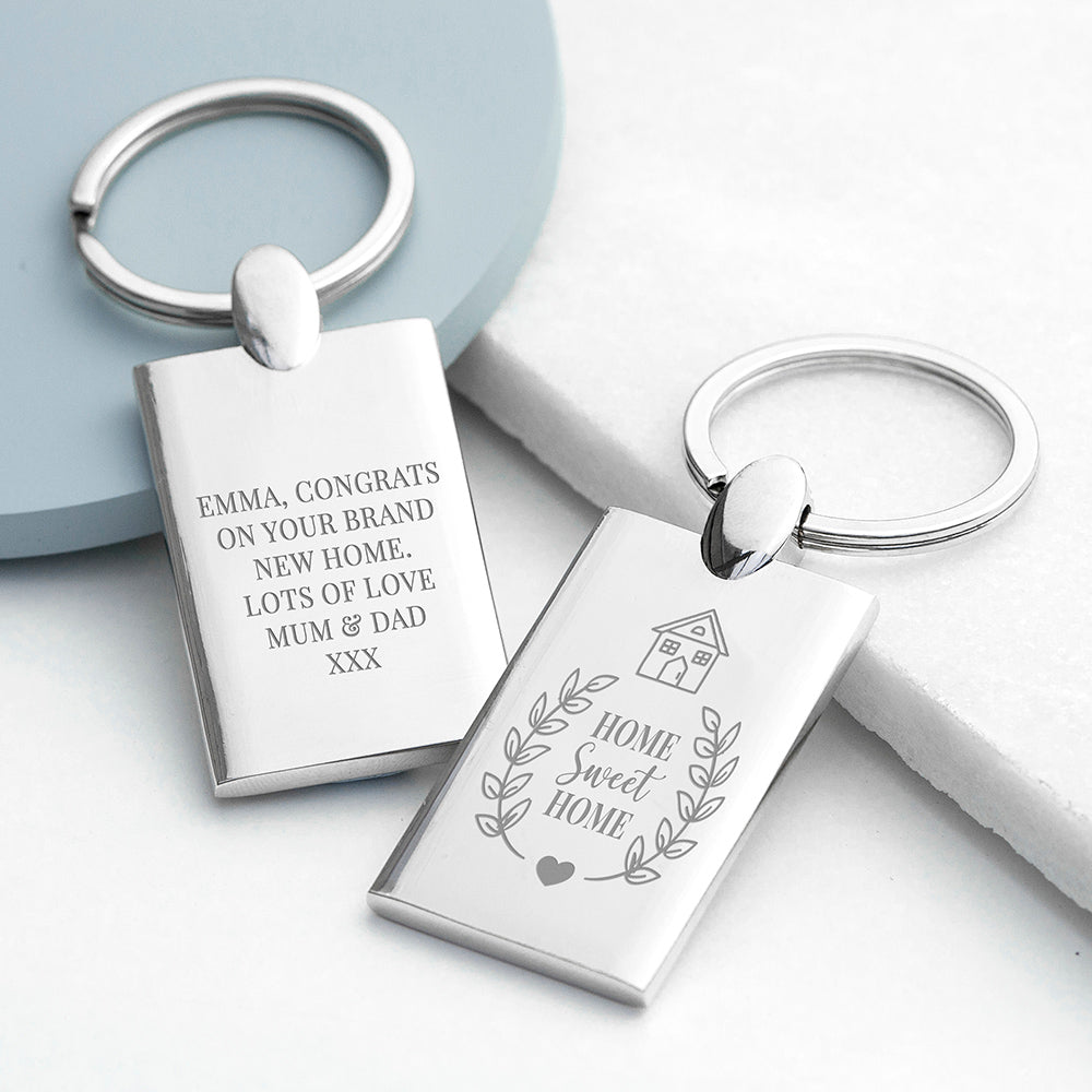 Personalised Home Sweet Home Keyring