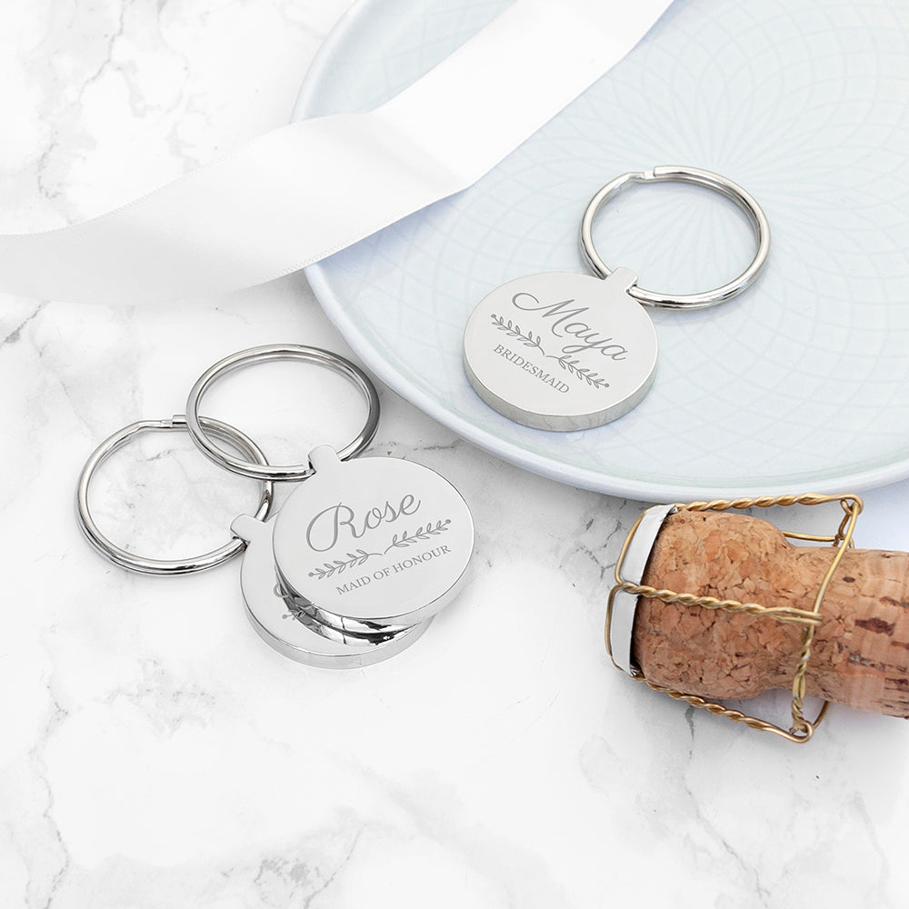 Personalised Bridal Party Keyring