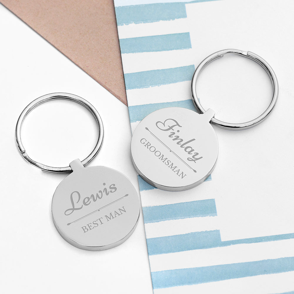 Personalised Wedding Party Keyring