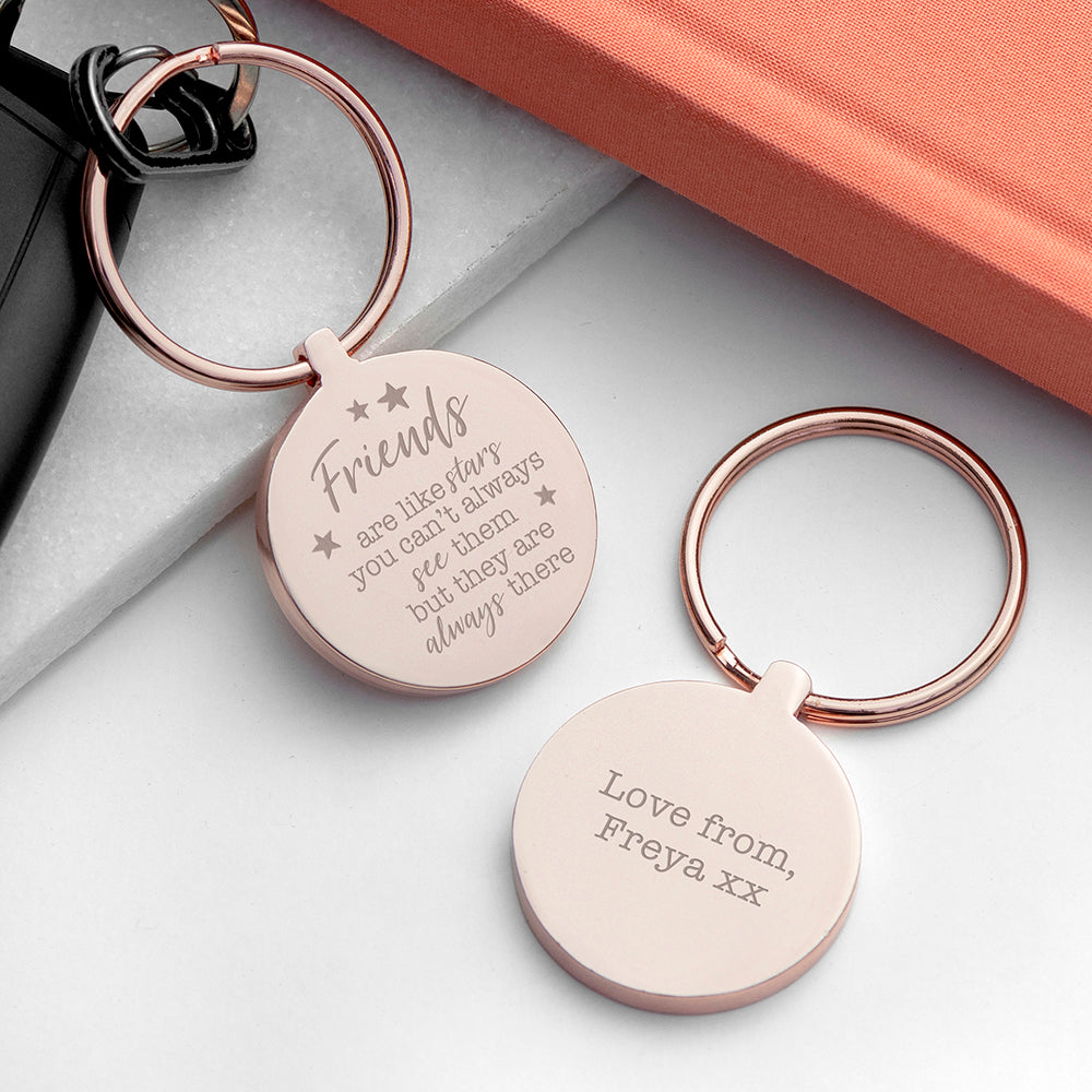 Personalised Friends Round Metal Keyring