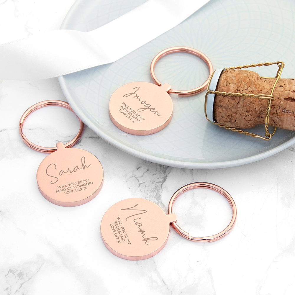 Personalised Special Person Round Keyring