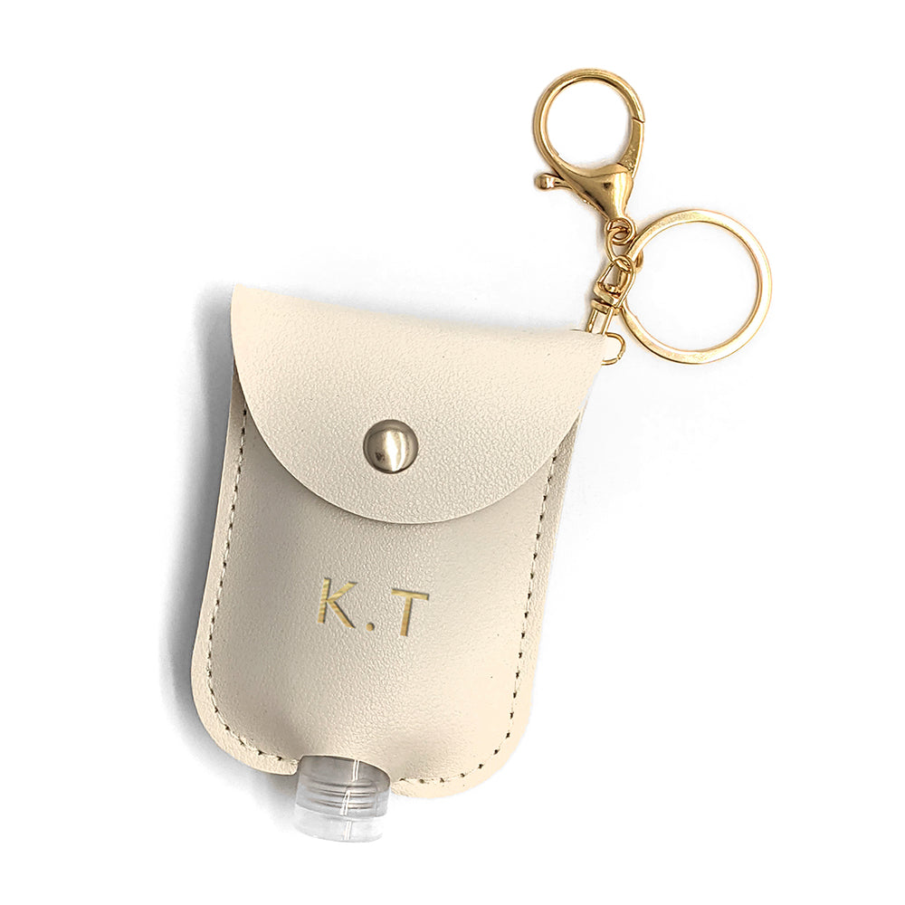 Personalised Hand Sanitiser Holder Keyring