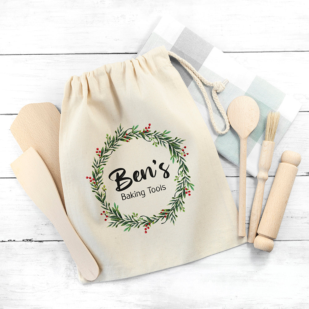 Personalised Kids Christmas Baking Set