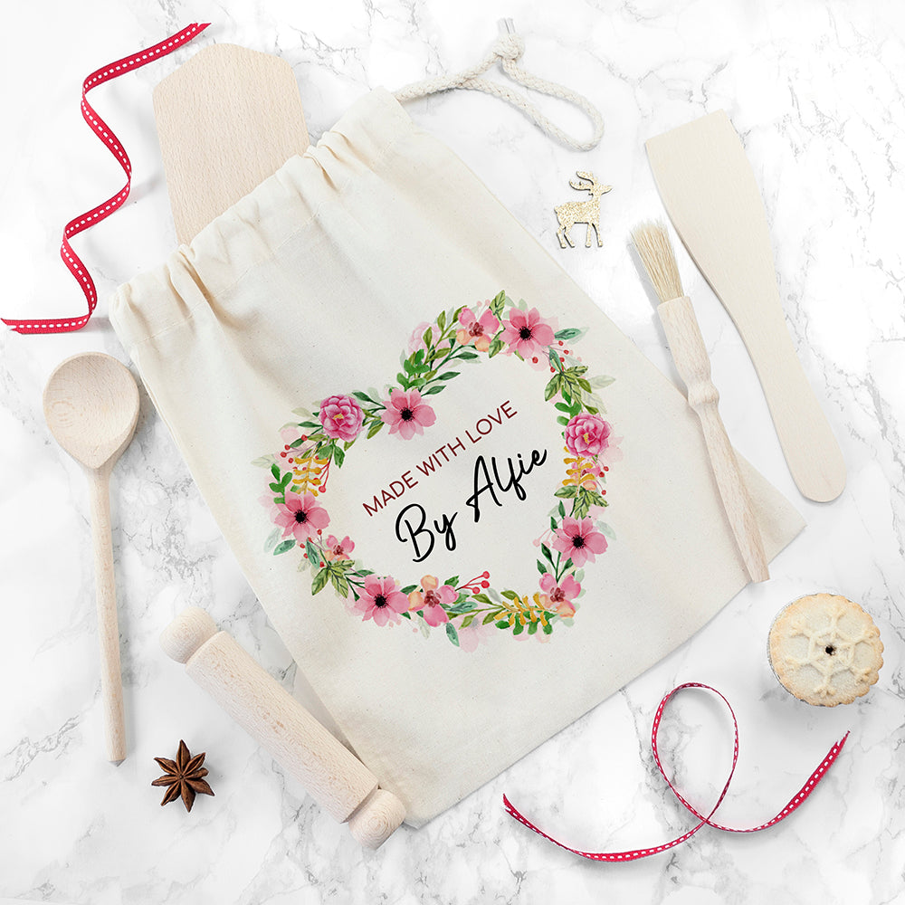 Personalised Kids Flower Wreath Baking Set