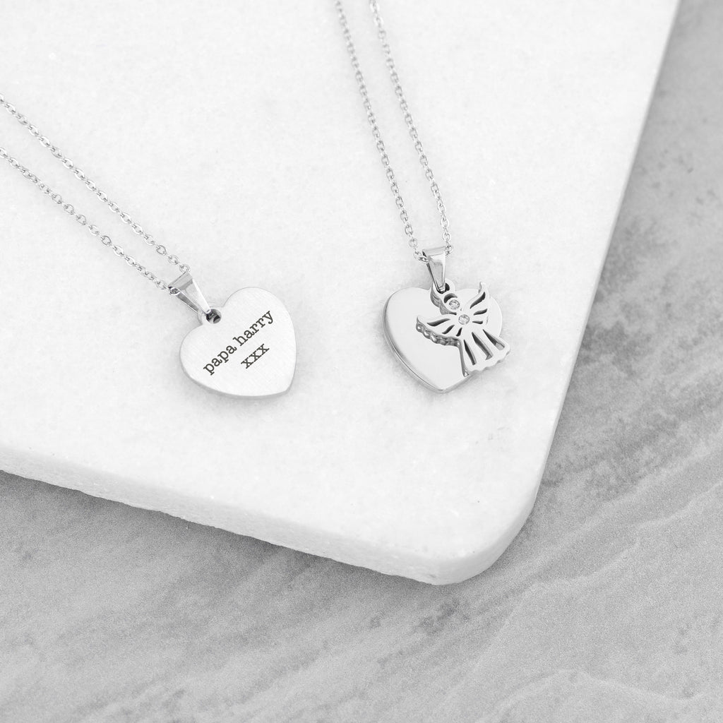 Personalised Guardian Angel Necklace