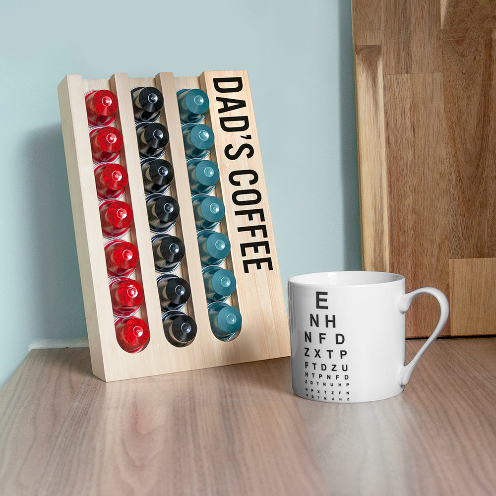 Personalised Bamboo Nespresso Coffee Pod Holder