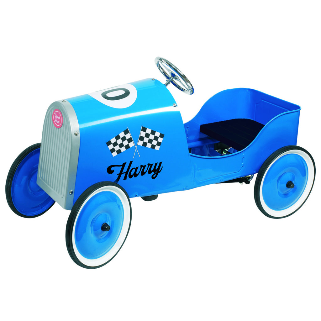 Personalised Grand Racer Vintage Pedal Car for Kids - treat-republic