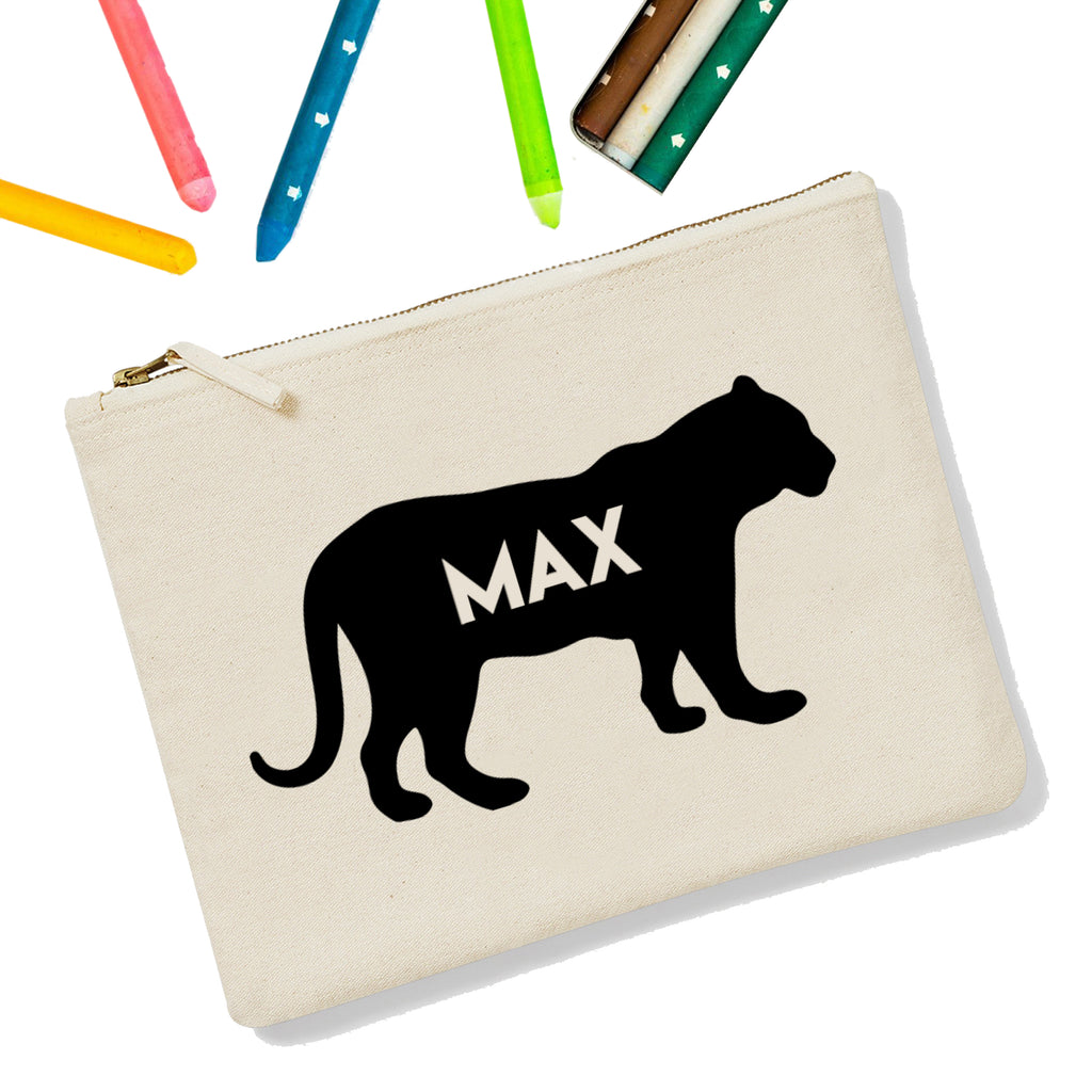 Tiger Personalised Zipup Pencil Case