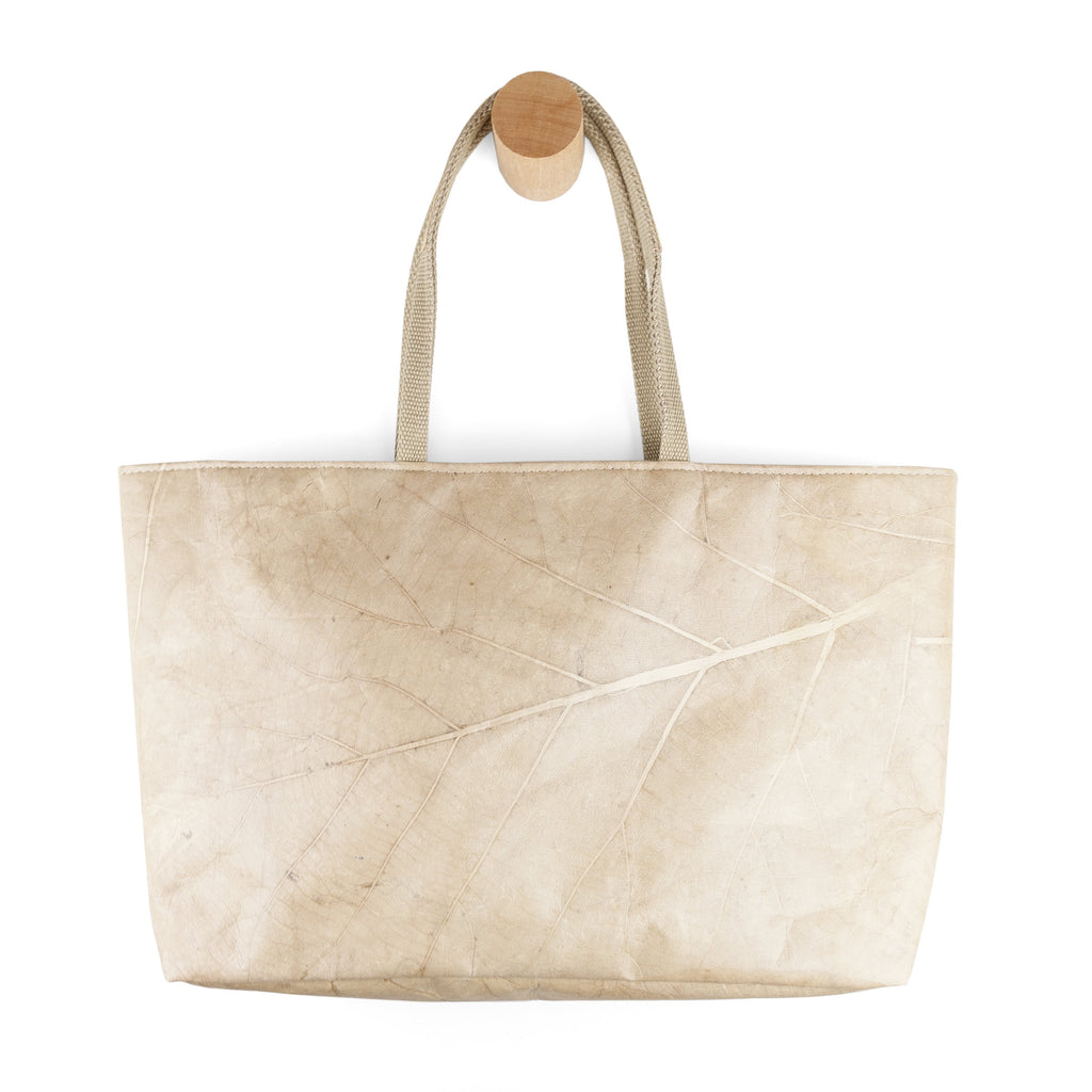 Leaf Leather Tote in Leaf Leather - Natural