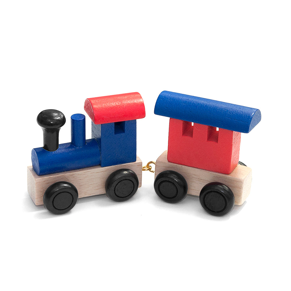 Personalised Children's Wooden Train - Red and Blue