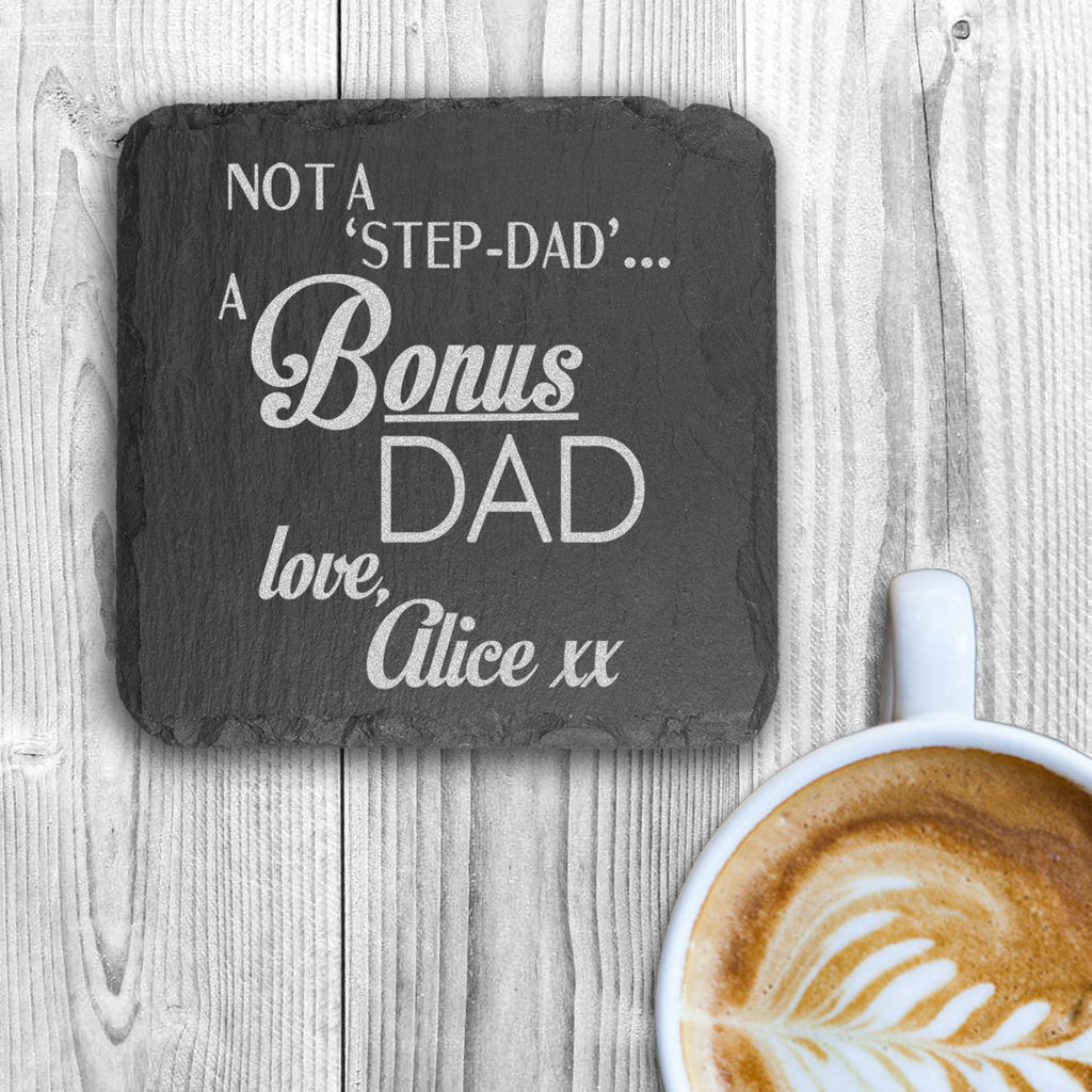 A Bonus Dad Square Slate Keepsake - treat-republic