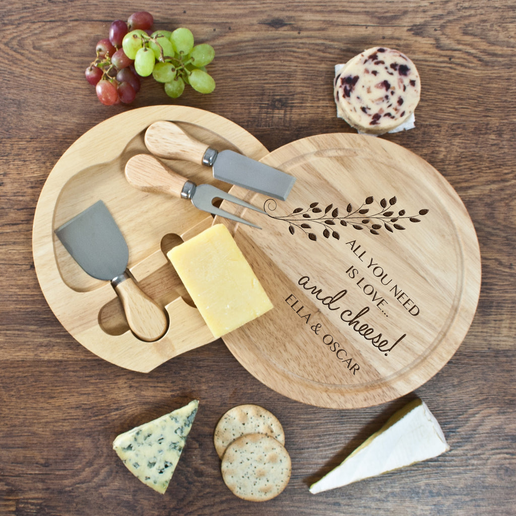 'All You Need Is Love' Round Cheese Board