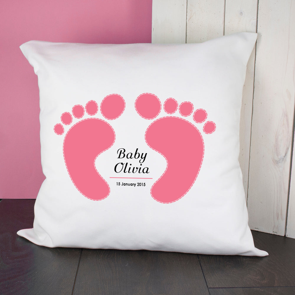 Baby Cushion Cover - Feet (Pink) - treat-republic