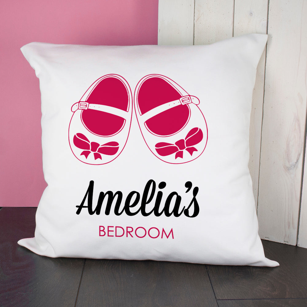 Baby Cushion Cover - Shoes Pink - treat-republic