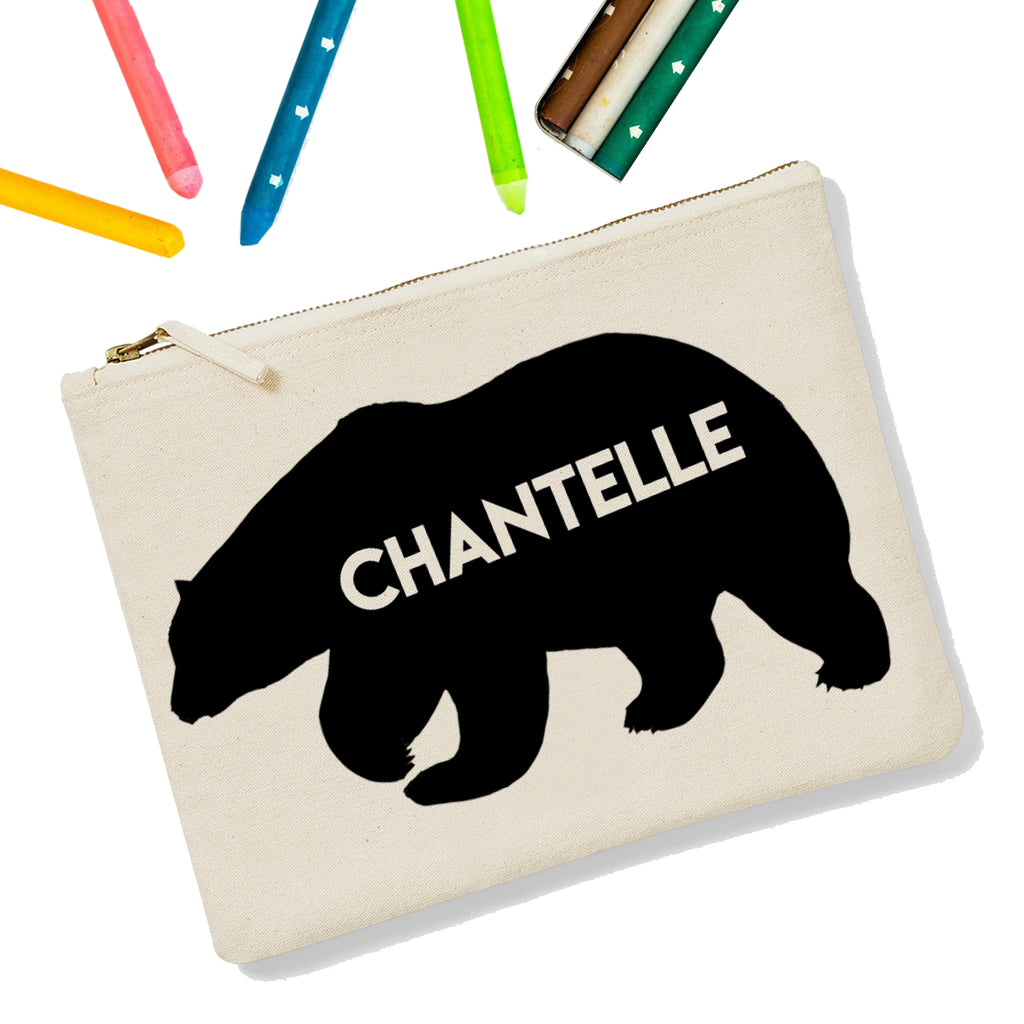 Bear Personalised Zipup Pencil Case - treat-republic