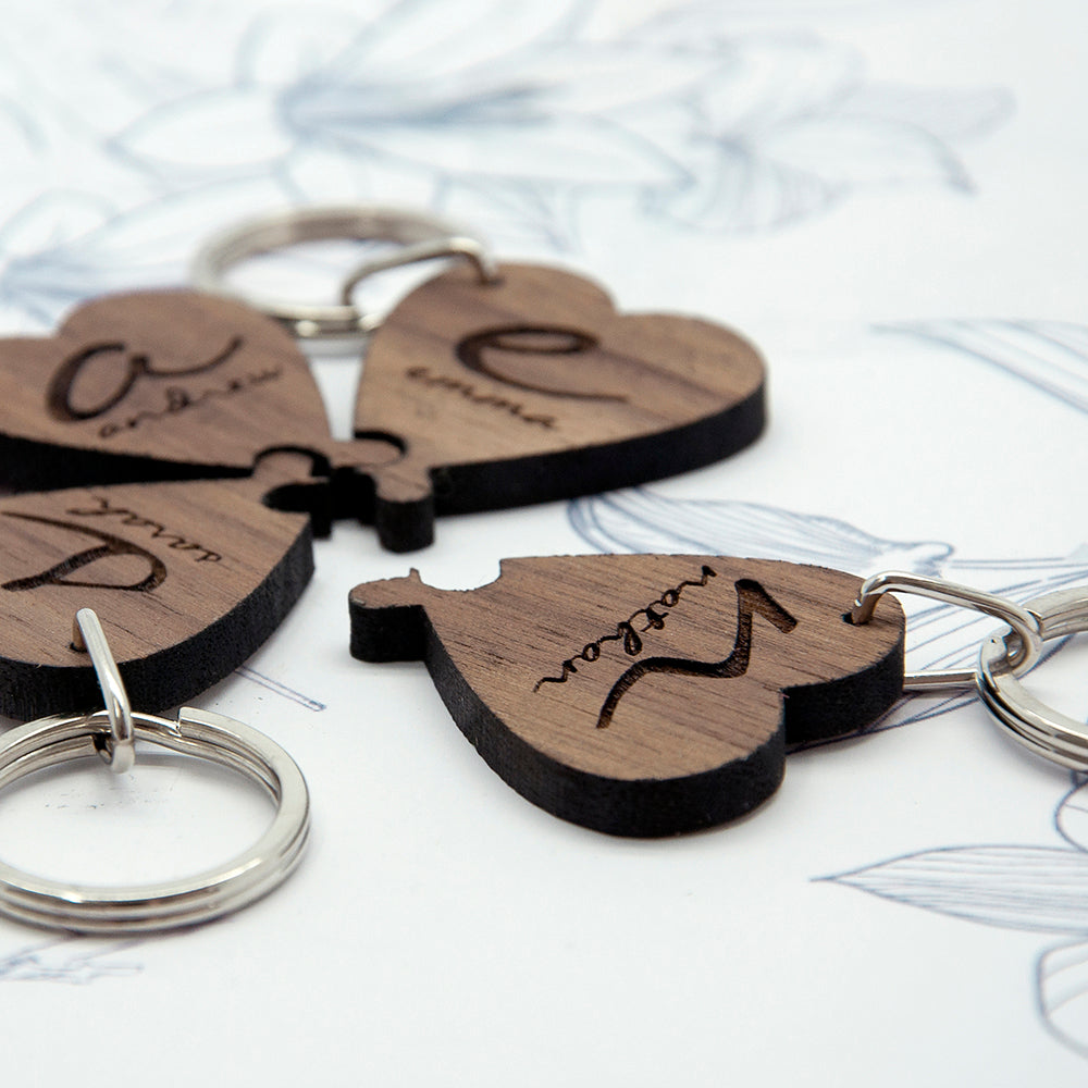 Best Friends Forever Heart Wooden Keyring