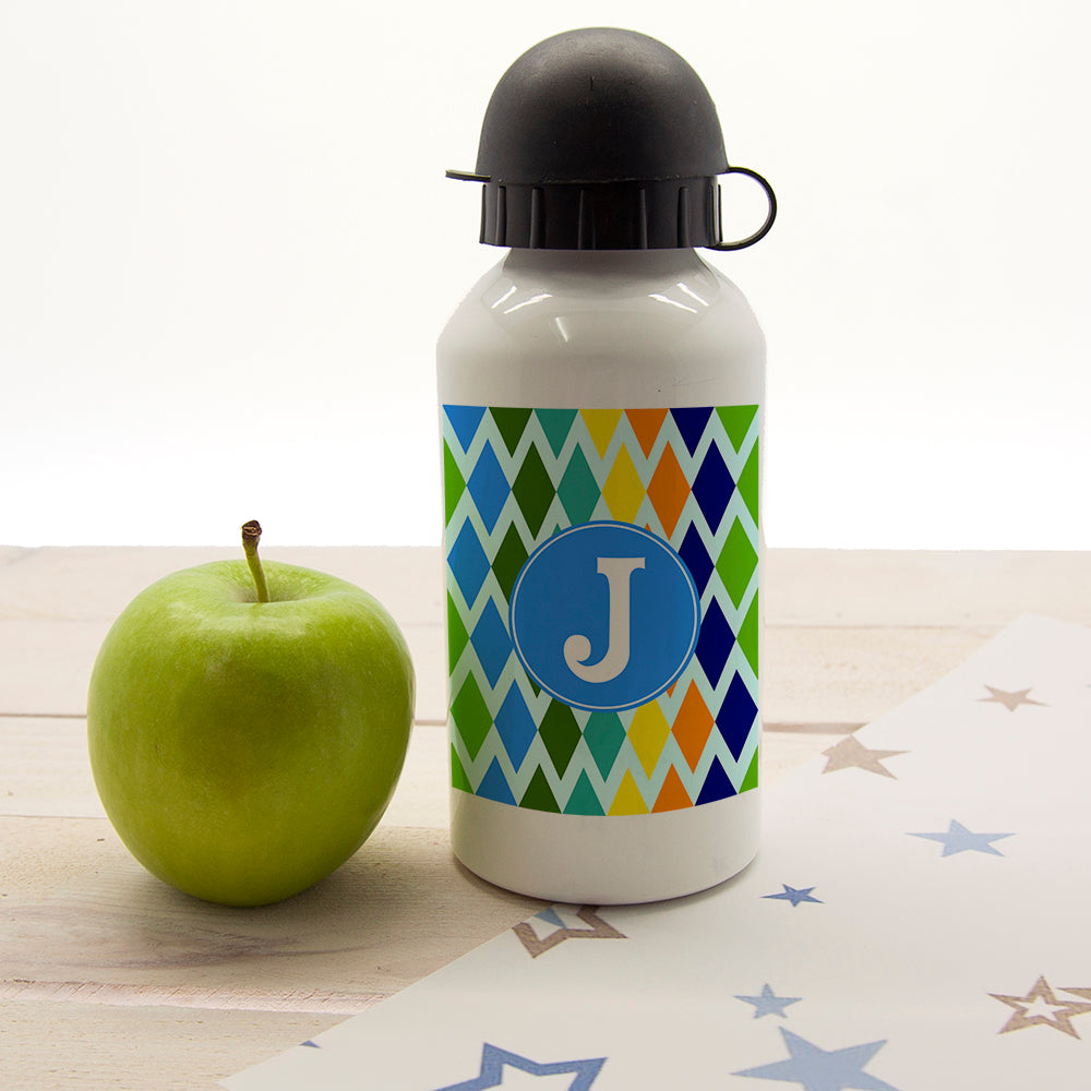 Boys Stain Glass Window Personalised Water Bottle - treat-republic
