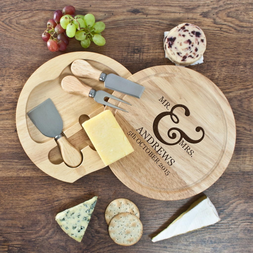 Classic Couples' Round Cheese Board - treat-republic