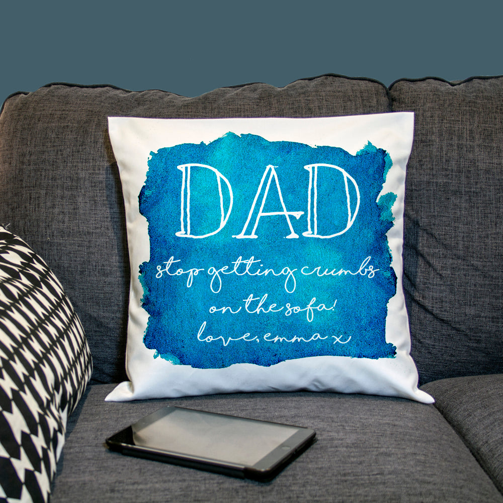 Coastal Watercolour Cover Personalised Cushion Cover