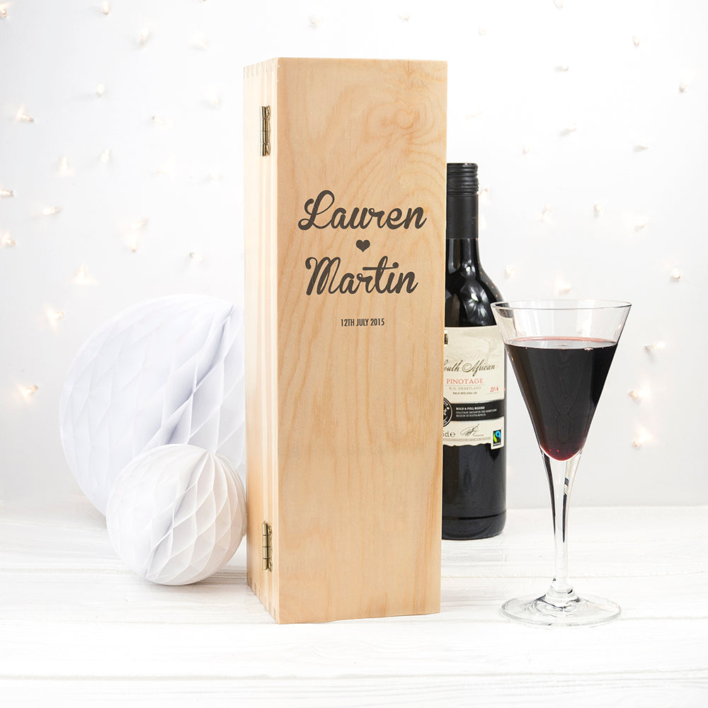Couple's Romantic Wine Box - treat-republic