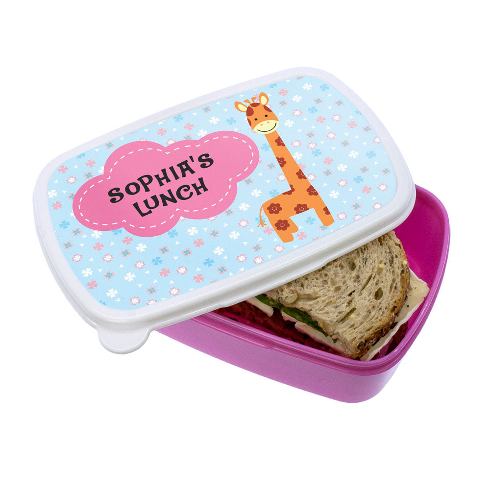 Cute Giraffe Character Lunch Box