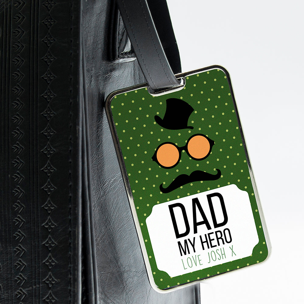 Dad You Are My Hero Luggage Tag - treat-republic
