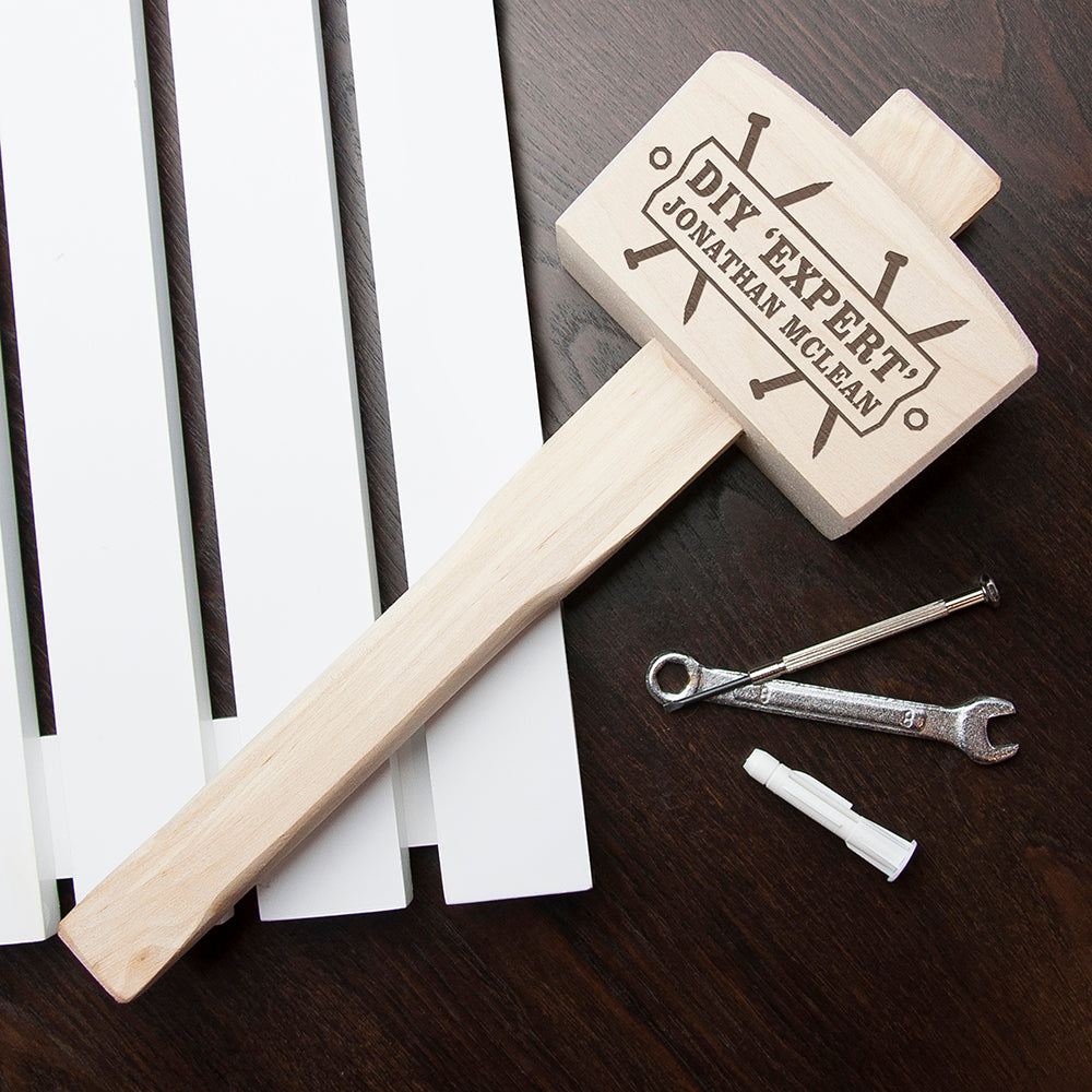 DIY 'Expert' Personalised Wooden Mallet - treat-republic