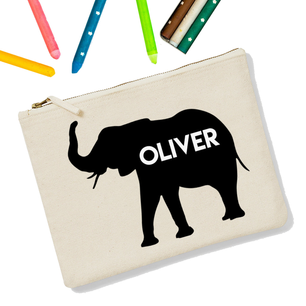 Elephant Personalised Zipup Pencil Case - treat-republic