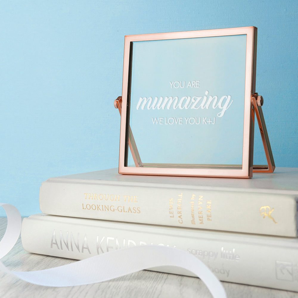 Engraved Mumazing Rose Gold Frame - treat-republic