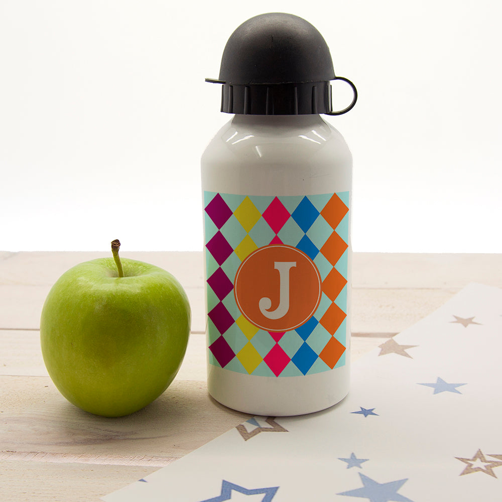 Girls Mosaic Tiled Personalised Water Bottle - treat-republic