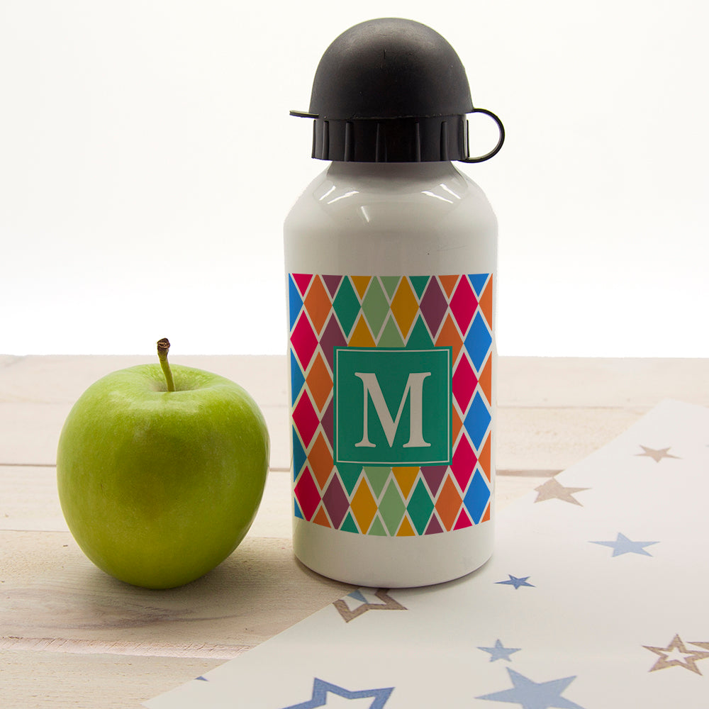 Girls Stain Glass Window Personalised Water Bottle - treat-republic