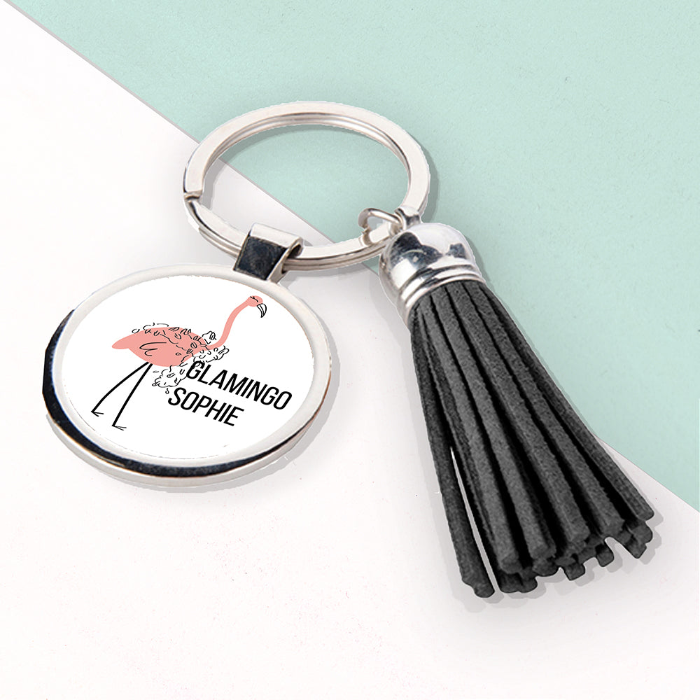 Glamingo Tassle Keyring - treat-republic