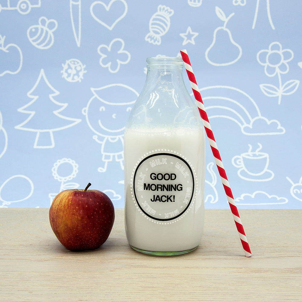 Good Morning Little One Milk Bottle & Straw - treat-republic