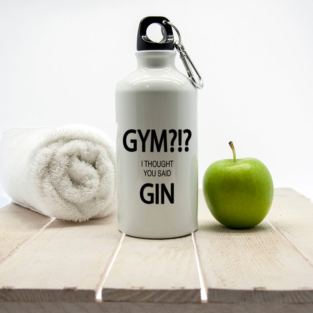 Gym!? I Thought You Said Gin Personalised Water Bottle - treat-republic