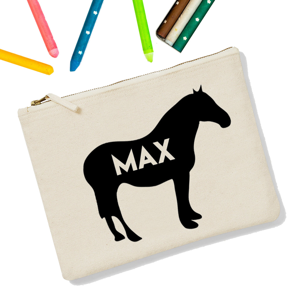 Horse Personalised Zipup Pencil Case - treat-republic