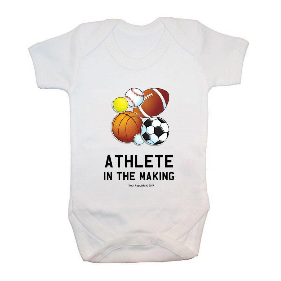 Athlete In The Making Baby Grow - treat-republic